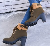 Wholesale Designer pu lace up round head high heel boots women short boots evening party bridal wedding boots yzs168