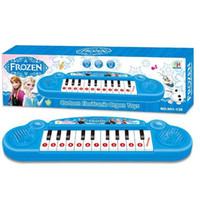 Varejo congelados princesa Anna Elsa meninas brinquedos crianças órgão eletrônico teclado eletrônico cartoon Electone com música 8 canção nova 60pcs