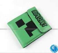 leather bag factory - hot cm pu leather wallets minecraft JJ wallet Blame Creeper Purse Card Bag for men women unisex top quality factory price