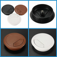Wholesale New Arrvial mm Computer Desk Grommet Table Cable Tidy Outlet Port Surface Wire Hole Cover Excellent Quality