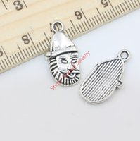 antique santa claus - 22pcs Antique Silver Plated Christmas Santa Claus Charms Beads Pendants for Jewelry Making DIY Handmade x12mm Jewelry making DIY