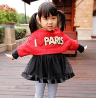 best sweater dresses - Girls Clothes Set Autumn New Fashion Best Quality Kids Set Sweater Blouse Backing Dress Children Clothing Fit2 Age T1476