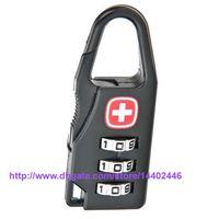 bag combination lock - 100pcs Bag Shaped Digits Padlock Travel Luggage Combination Suitcase Code Lock Case Resettable Combination Padlock Secret Safe Password