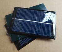 Wholesale Solar Panels V mA W Mini Solar Cell x60MM For Small Power Appliances DIY Panel Drop Shipping