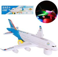 aeroplane airbus - Airbus a380 Airlines Model Aeroplane Electric Toy Universal B O Lights Sound