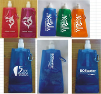 Cheap Factory wholesale! Sports foldable water bottle, portable collapsible water bag 500pcs lot 6 color 72 styles Free shipping