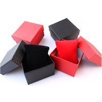 Wholesale New Arrival Luxury Paper Watch Packing Boxes Jewelry Gift Packaging Supplies Red Black Blue Available