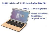 Wholesale T1416 inch laptop Ultra thin laptops GB hard drive GB DDR3 memory at a high speed Practical laptops