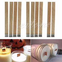 Wholesale 10Pcs mm x mm Candle Wood Wick with Sustainer Tab Candle Making Supply