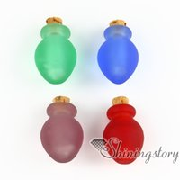 pet urns - small glass bottles pendant necklaces jewelry urns for ashes dog pet ash jewelry