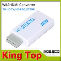 Wholesale New arrival For Wii to HDMI Wii2HDMI Adapter Converter Full HD P P Output Upscaling mm Audio Box Converter Adapter