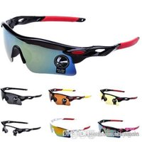 Wholesale 2016 Cheap Fashion Colors Upgrade Cycling Outdoor Sports Eyewear Sunglasses Men Women Riding Fishing Glasses MYF213