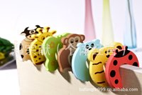 baby gates - Child kids Baby Animal Cartoon Jammers Stop Door stopper holder lock Safety Guard Finger safety Gates Y32263