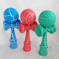 Wholesale 100pcs ball kendama Professional game top quality full crack paint beech Boutique