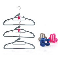 Wholesale Novelty Home Creative authentic mini flocking hanger clothes hanger new magic anticlip pp clothes hook good quality