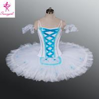 adult snow white tutu - Adult Women Kids Girls Ballet Professional Tutus The Snow Flake In Nutcracker White Blue Ballet Tutu AT1080C