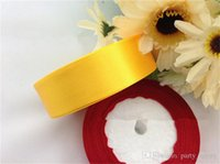 Wholesale Wide Polyester Ribbon Decorate The Wedding Chair With Single Ribbon Bow Road Led Ribbons Satin Ribbon Roll Bow Wedding Party Craft