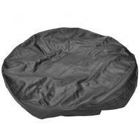 Wholesale car solid black color spare tire cover PVC imitates skin tire cover car spare tire cover M tire cover black