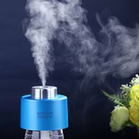 Wholesale 2015 USB Portable ABS Water Bottle Cap Humidifier Purifier DC V Office Air Diffuser Aroma Mist Maker Absorbent Filter Sticks