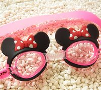 Wholesale Fashion kids Swimming goggles boys girls cute mickey dolphins swimming goggles children swimming gear beach supplies