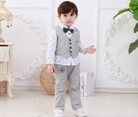 best shirt for suit - Children Clothing Set For Autumn Arrival Best Quaintly Boys Suit Vest Shirt Pants Outfits Fit Age set SS211