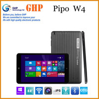 Wholesale PIPO W4 inch IPS x800 Windows win8 tablet pc intel Z3735G Quad Core GB RAM GB ROM Dual Camera HDMI OTG Bluetooth WIFI