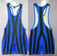 art weights - Man Tights Stripes Wrestling Singlet Wrestling Outfit Trunk Bodywear Weight lift Gym Teddis Tights