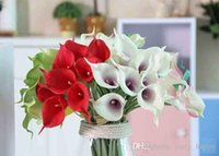 amaryllis wedding - Multicolor Upscale Feel Is Mini Callas Simulation Flowers Wedding Decoration Amaryllis Pu Fake False Brides Bouquet DIY Home Decoration Artw