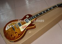 Wholesale Custom shop R9 Tiger Flame electric guitar Standard LP electric guitar HOT