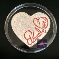 australia heart - Australia Loving Heart Shaped Colored Elizabeth II Love Silver Plated Australia challenge Coin