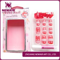 acrylic fingernail designs - New Arrival False Nail Tips Red Christmas Snowflakes Design Fake Nails Acrylic Nail Art Decoration Fashion Fingernails Manicure