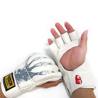 ufc gloves - New Grappling MMA Gloves PU Boxing Punching PU Gloves Sanda Fighting Gloves UFC Half Finger Gloves