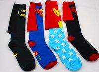 animals wondering - 24pcs pair DC Comics cotton cartoon cape superman batman wonder woman elite Skateboarding Sport knee high Socks pair