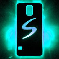 al por mayor los accesorios de samsung-2015 LED teléfono celular casos cubierta del teléfono LED para Samung Galaxy S5 encendido LED Contraportada casos LED del teléfono celular accesorios para flash mientras que llama o Ca