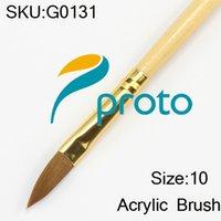 acylic tube - Freeshipping Size Acrylic Brush Professional Acylic Sable Nail Brush Wood Handle in Tube SKU G0131X