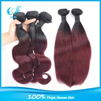 Cheap omber hair weft Best omber Burgundy