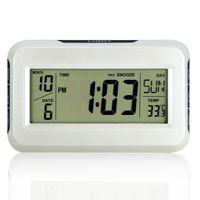 alarm clock big w - Multifunctional big screen acoustic control sensing alarm clock thermometer music alarm clock home clock w calendar temperature