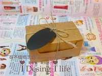 apparel gift tags - 9 cm Gift Kraft Paper packing Boxes Craft Handmade Soap Boxes with rope tag
