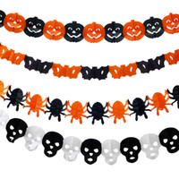 Wholesale Halloween Paper Chain Garland Decoration Pumpkins Bats Spiders Skull x style