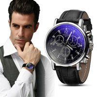 acrylic auto sales - 2015 Hot Sale New Luxury Gold Brand Men Watch Fashion Faux Leather Bussiness Men s Analog Watch relogio masculino
