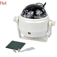 Wholesale Sea Marine Pivoting Compass Dashboard Electronic Digital Compass Dash Mount Marine Outdoor Gadgets Boat Truck Car White V LED Light TK0098