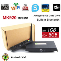 3d pc camera - Free DHL XBMC MK920 Mini PC Amlogic S805 Quad Core Android Smart Box TV Set Top G G with M Web HD Camera WiFi Receiver D Bluetooth