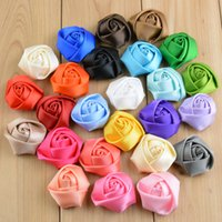 "Cheap 1.5"" Ribbon Rose Flowers Baby hair accessories Children's headband Baby Girl's Flower Without Clip Kids Clothing accessories"