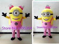 batik material - high quality Adult size kinds of style Despicable me minion mascot costume Minion mascot costume EPE material