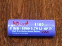 Wholesale Ecigarette battery high drain rechargeable battery battery mah v A LI battery ecig batteries for e cigarette mod