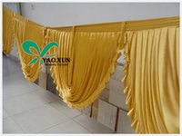 Wholesale Gold Color Ice Silk Swag Only For Wedding Decoration Size Can Choose