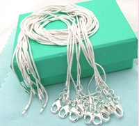 Wholesale 100PCS Solid Silver MM Snake Chain Necklaces Drop