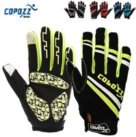 Wholesale Copozz Brand New GEL Full Finger Men Cycling Gloves mtb bike gloves bicycle ciclismo racing sport breathable thick shockproof