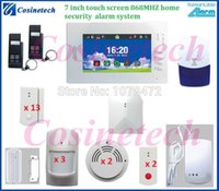 Wholesale Customized APP controlled MHZ home alarm system quad band GSM alarm kit security system with module for IP camera appliance control