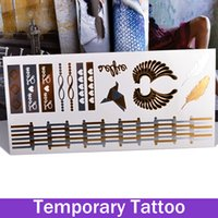 arm crane - 1 Sheet Feather Wing Paper Cranes Flash Gold Stamping Fashion Vintage Temporary Tattoo Stickers Tattoos Makeup
